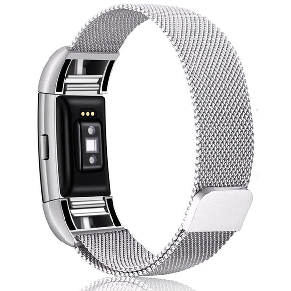 Stainless Steel Magnetic Milanese Loop Band for Fitbit Charge 2 Fitbit Charge 3