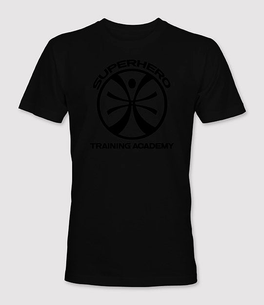 Limited Edition Superhero Training Academy T-Shirt™ Black on Black