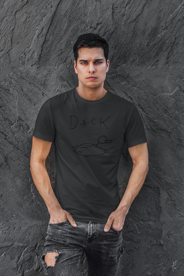 Black Ink on Black Duck Shirt