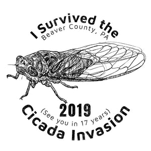 I Survived the 2019 Cicada Invasion Logo on Back