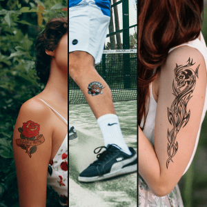 Upload your own artwork for Temporary Tattoos!