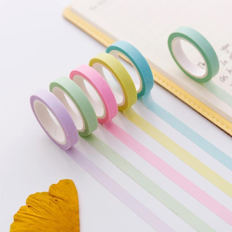 Washi Tapes Simple Color - I Love Papelaria