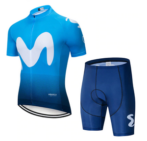 High Quality Movistar Cycling Jersey Set