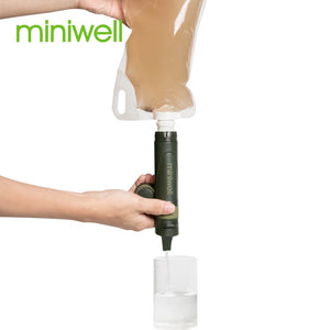 Traveling straw water filter