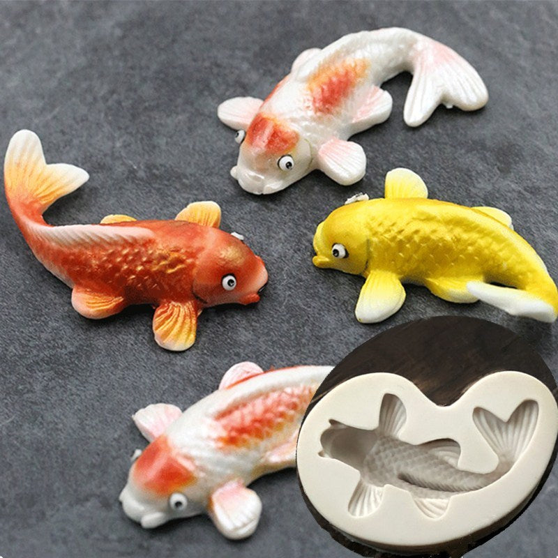 Aouke Fish Shape Cake Molds