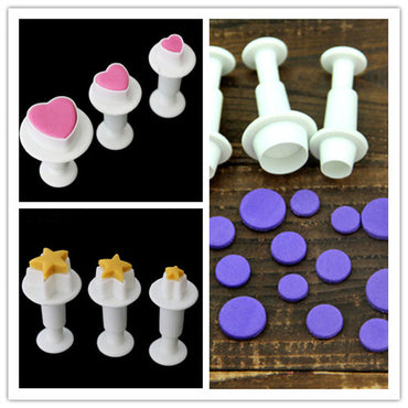3Pcs/Set Fondant Cake Tools