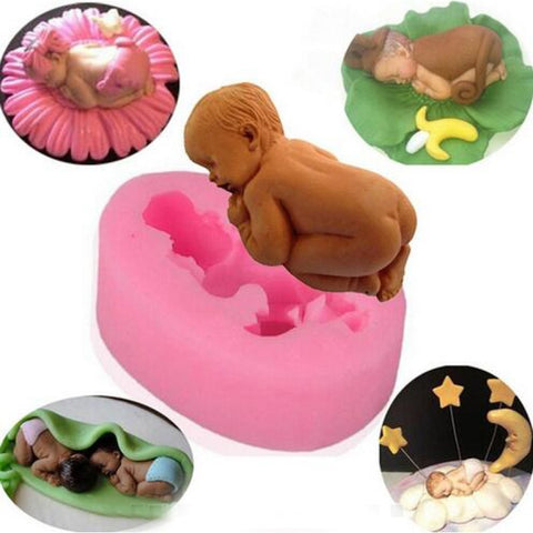 1PC 3D New Born Baby Silicone Mold