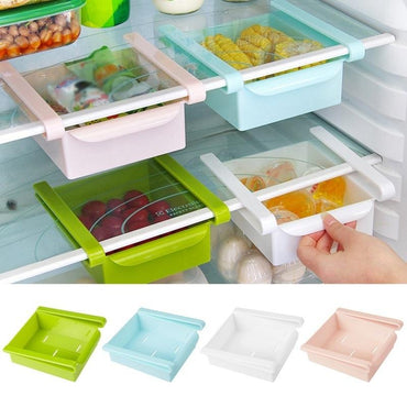 Fridge Freezer Organizer Storage Shelf