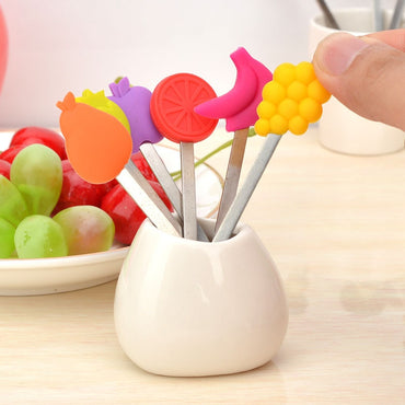 8pcs/set Cartoon Fruit Fork Set