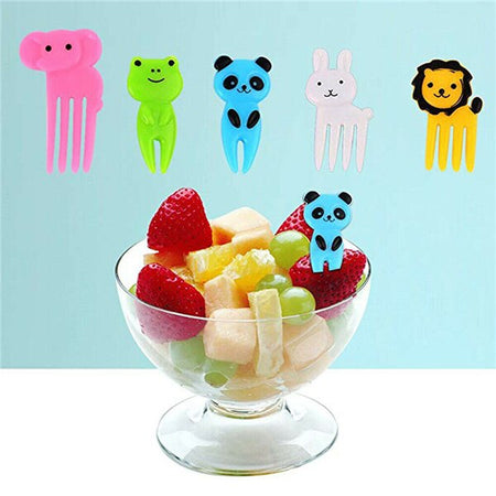10PCS Animal Food Fruit Picks