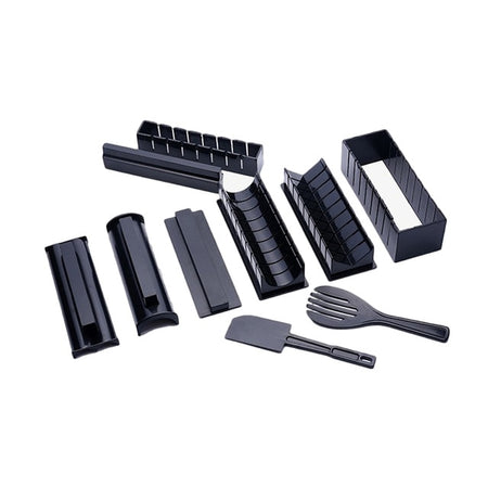 10 Pcs/Set DIY Sushi Making Kit Roll Sushi Maker Rice Roll Mold Multifunctional Mould Making Sushi Tools Kitchen Accessories