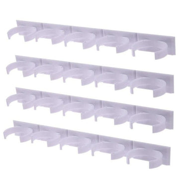 4 Pcs Kitchen Storage Rack Wall Mount Ingredient Spice Bottle Rack Plastic Clip Rack Cabinet Door Hooks Jars Spice Holder Tools