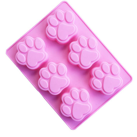 1PC Dog Cat Paw Print Mold Silicone Cake Biscuit Chocolate Fudge Baking Mold Christmas Kitchen Cake Decoration Accessories Tool