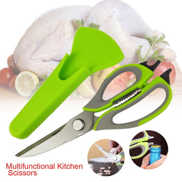 High Quality Kitchen Scissors Knife For Fish Chicken Household Stainless Steel Multifunction Cutter Shears Cooking Tools