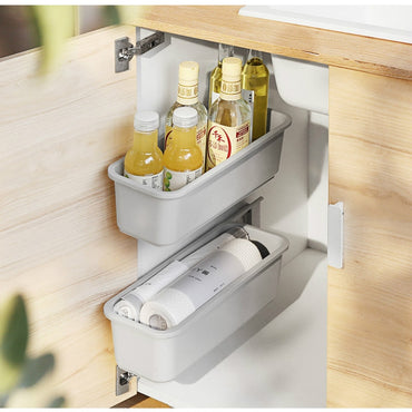 Kitchen Under Sink Storage Rack Spice Bottle Holder Organizer Shelf Bathroom Organizer Stand Wall-mounted Plastic Chopstick Box