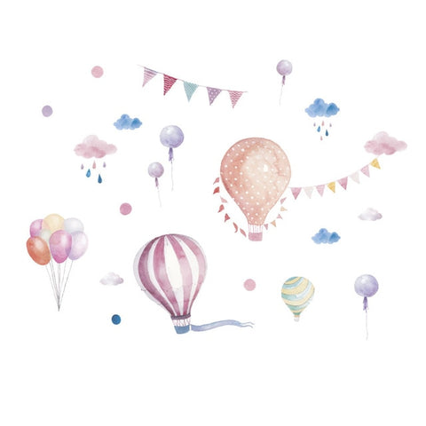 Animal Balloons Wall Stickers