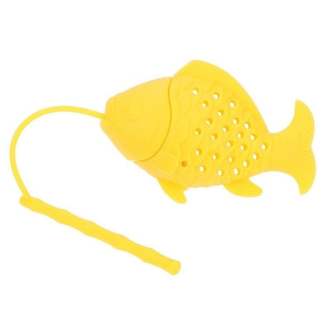 Silicone Tea Strainer Fish Loose Tea Leaf Strainer Spice Herbal Infuser Filter for Teapot Diffuser Drinking Tea Accessories