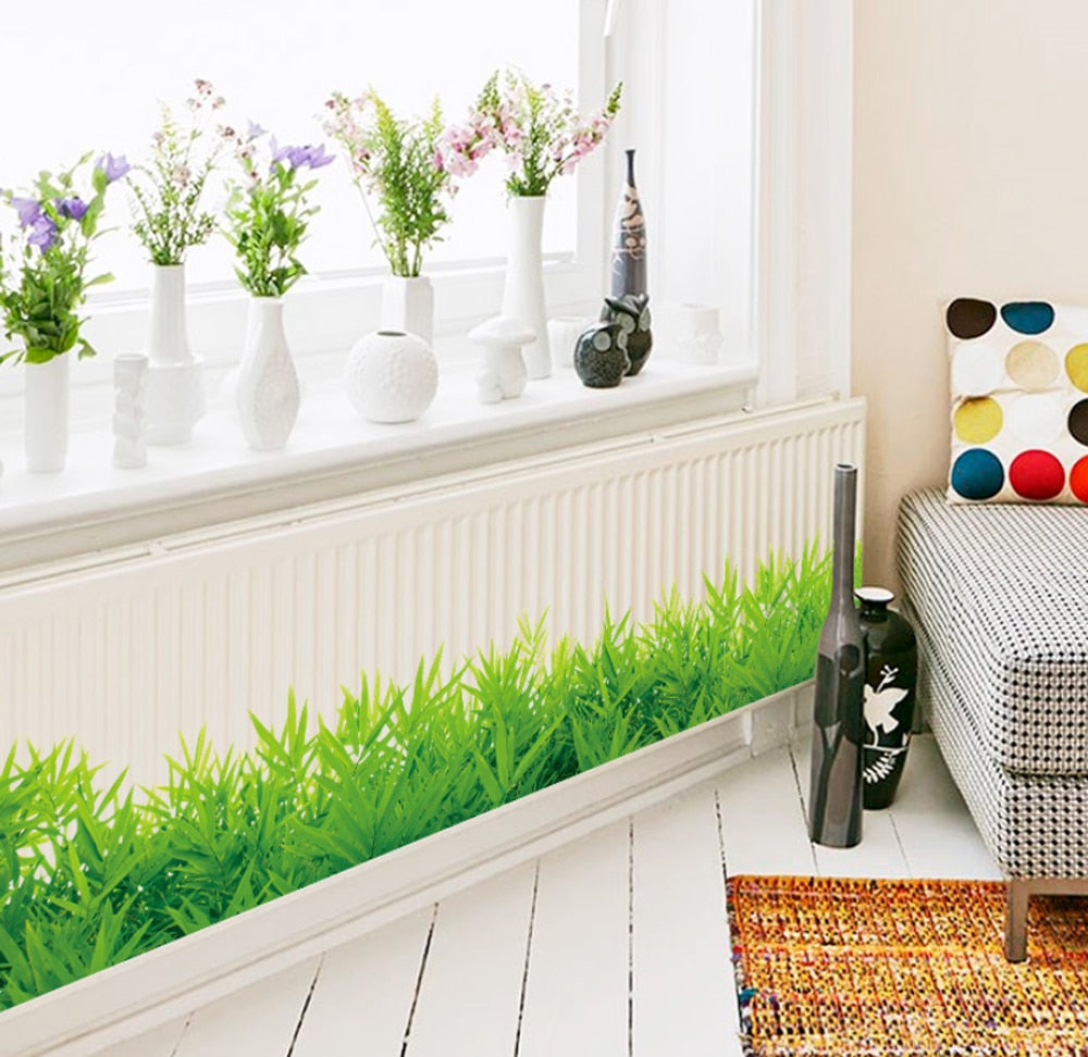 3D Fresh Green Grass Wall Stickers