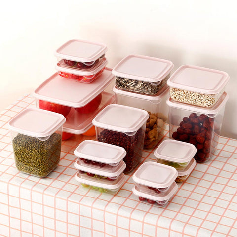 17PCS/Set Plastic Storage Box Set