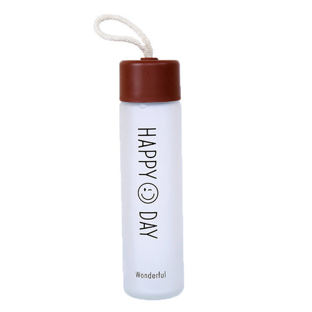 Frosted Glass Water Bottle
