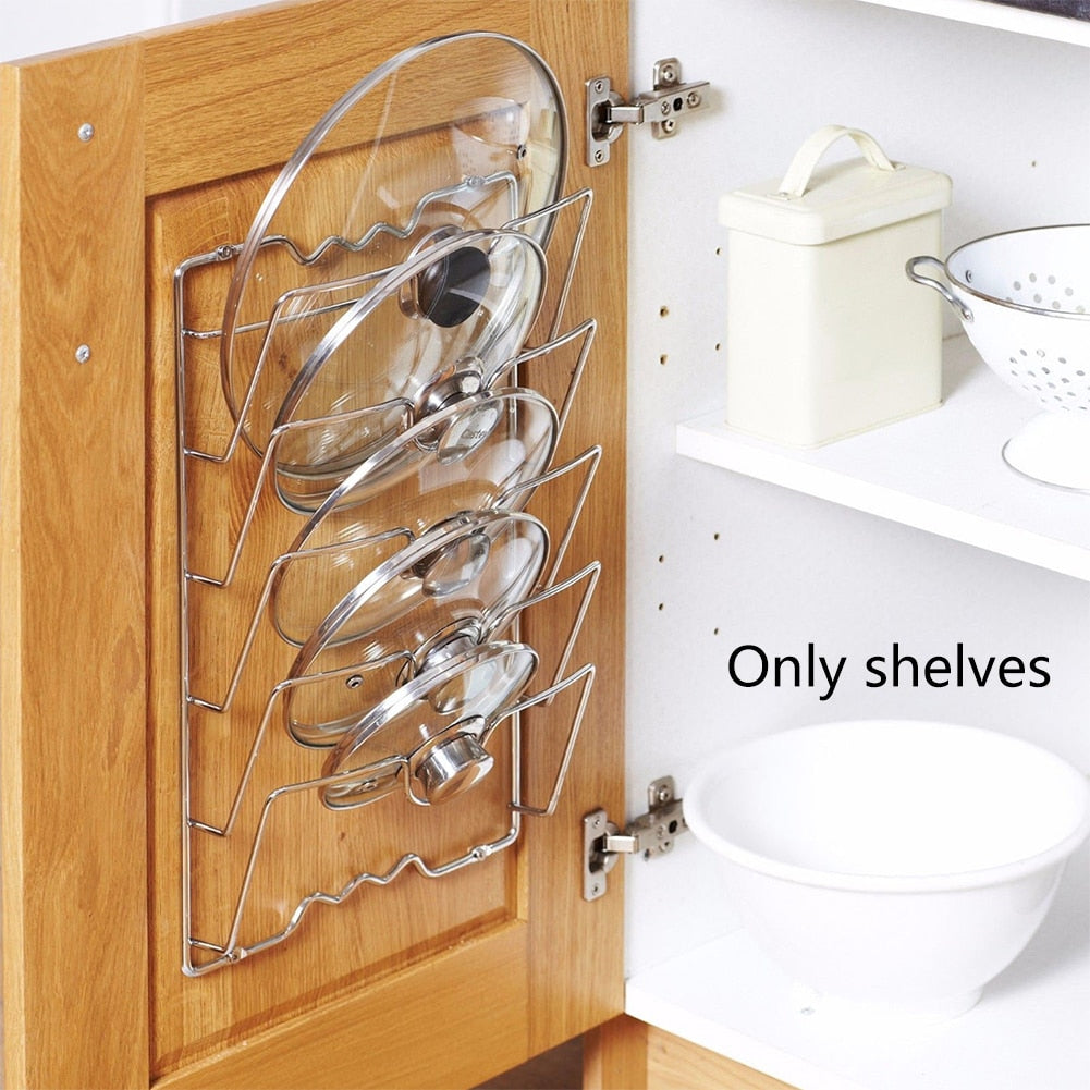 Pot Covers Holding Storage Rack