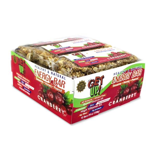 Cranberry Energy Bar 12-Pack