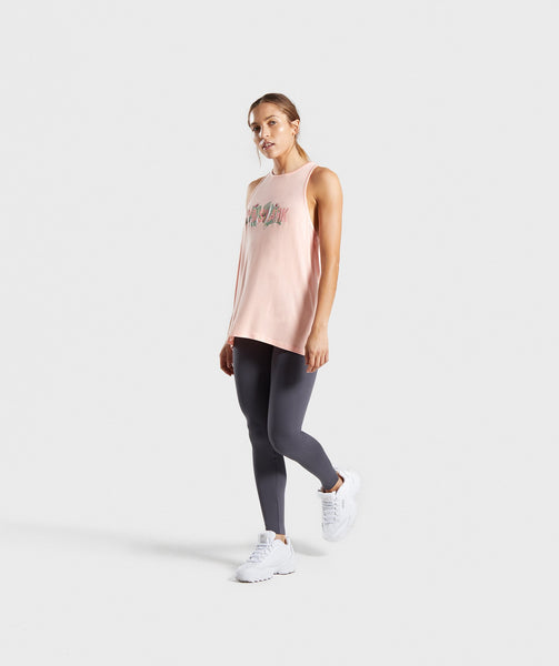 Gymshark Relaxed Graphic Vest - Washed Peach 3
