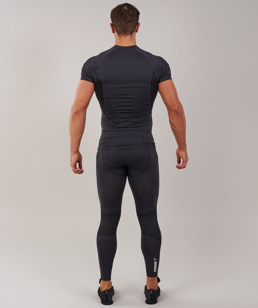 Gymshark Element Baselayer Leggings - Black Marl 2