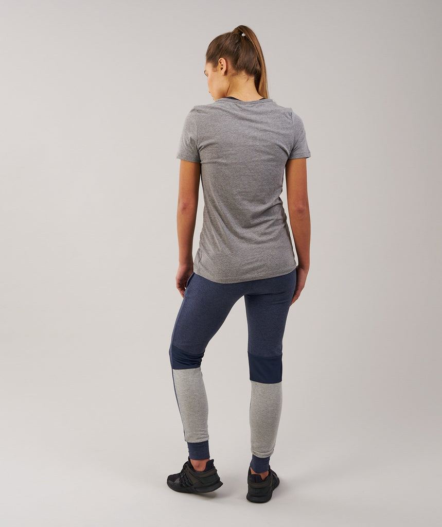 Gymshark Impulse Jogger - Sapphire Blue Marl/Light Grey 2