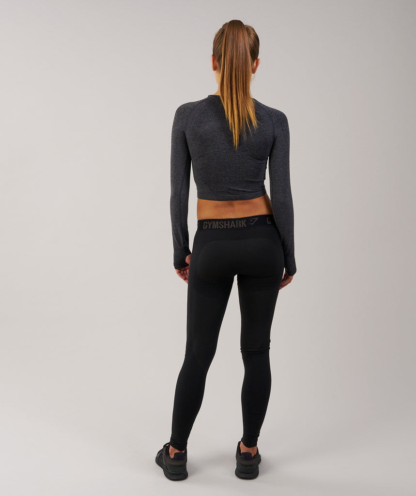 Gymshark Flex Leggings - Black Marl/Black 2