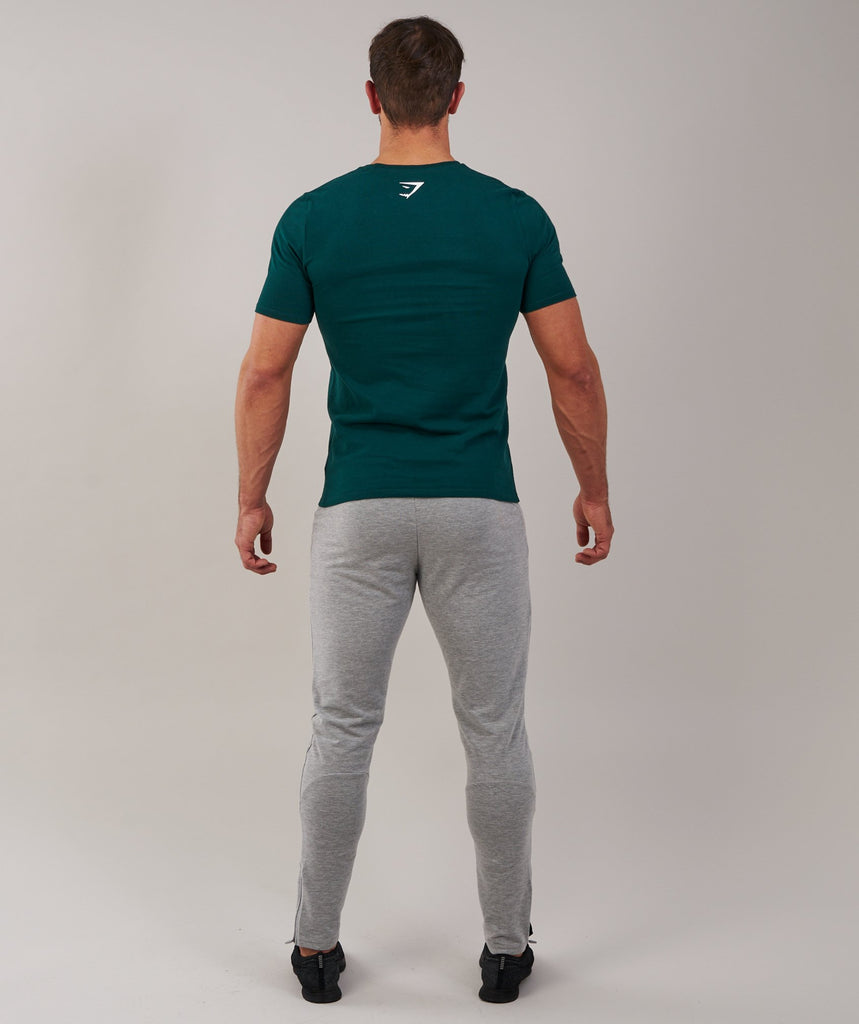 Brushed Cotton T-Shirt - Forest Green 2