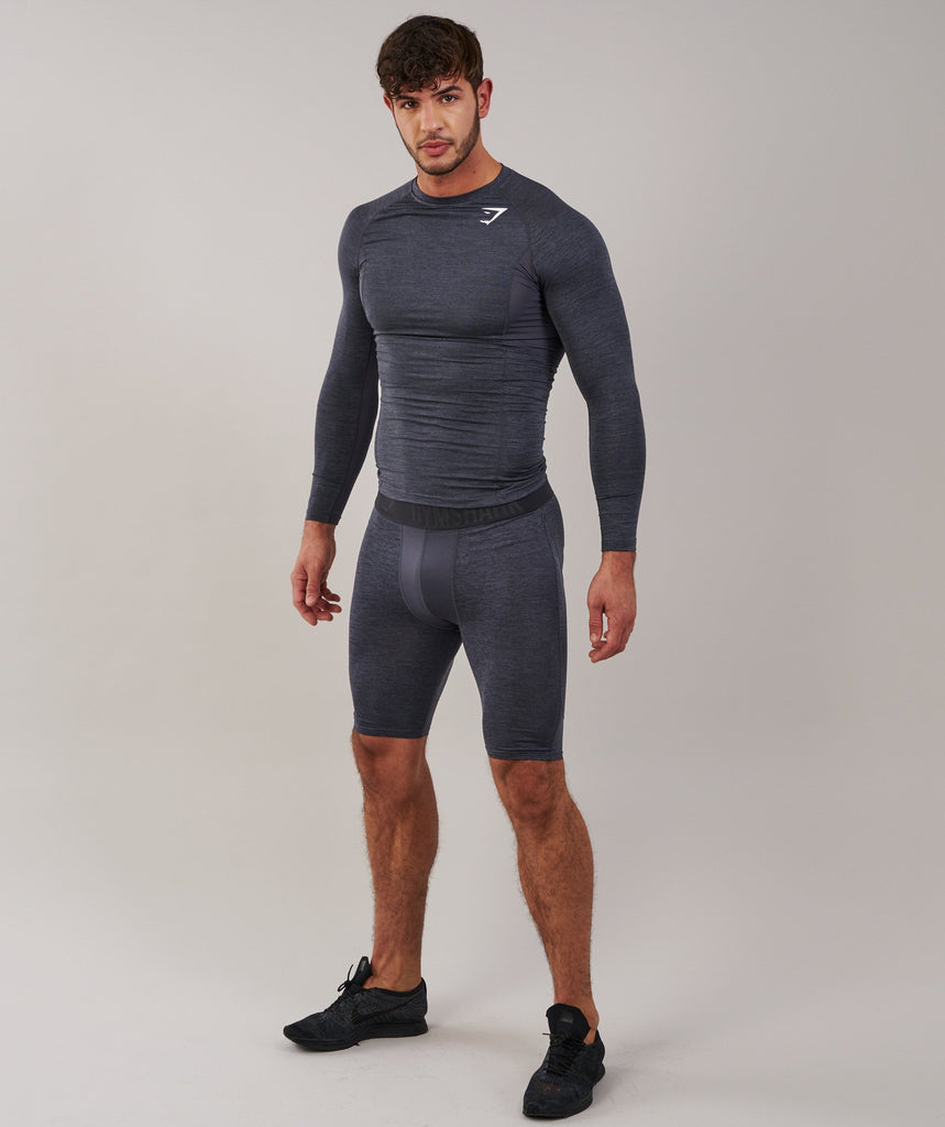 Gymshark Element Baselayer Shorts - Charcoal Marl 1