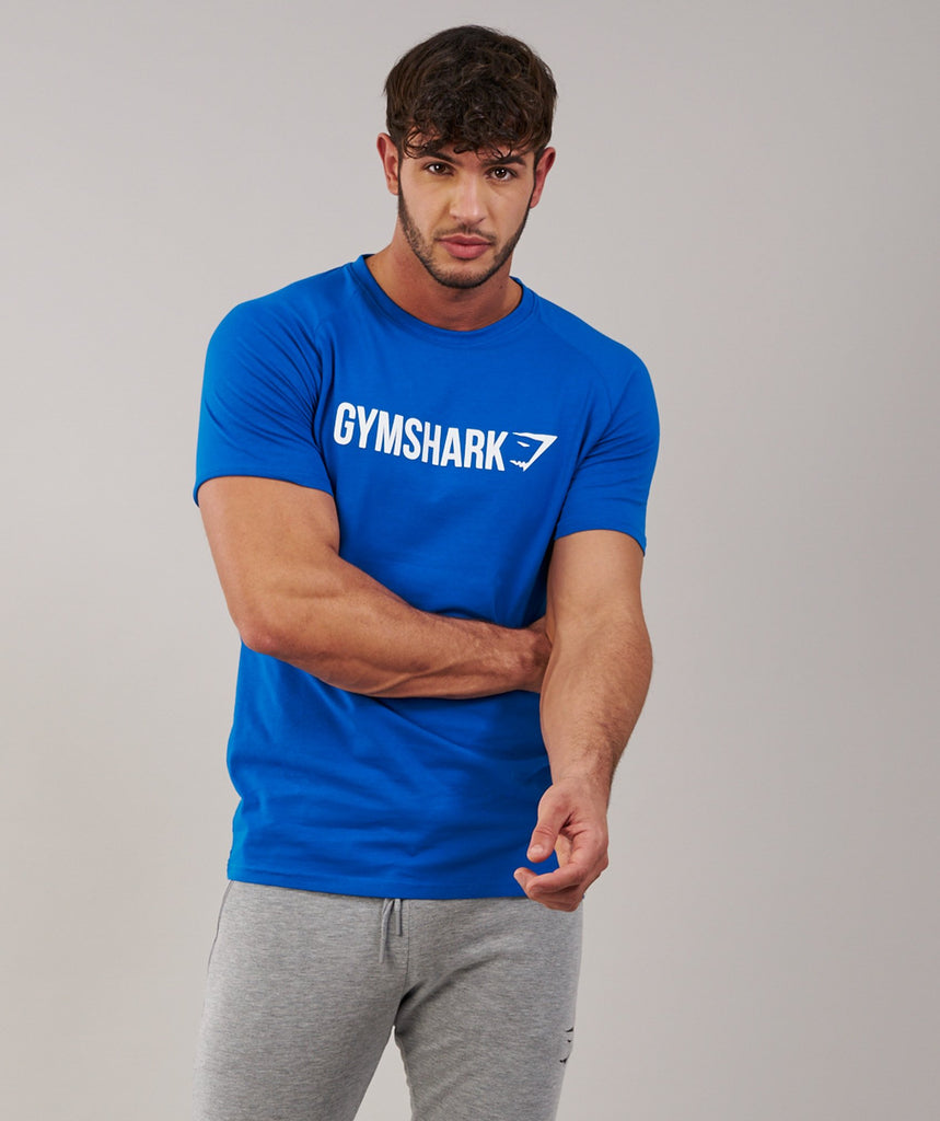 Gymshark Apollo T-Shirt - Dive Blue/White 5
