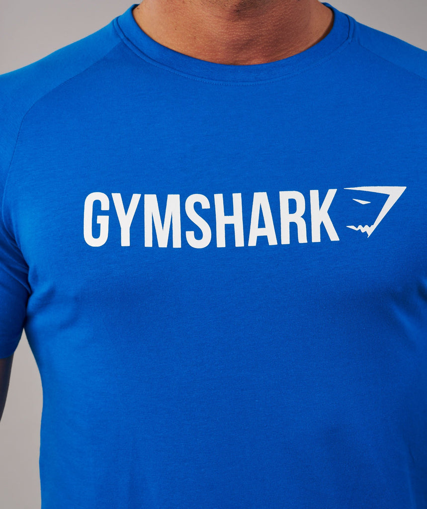 Gymshark Apollo T-Shirt - Dive Blue/White 6