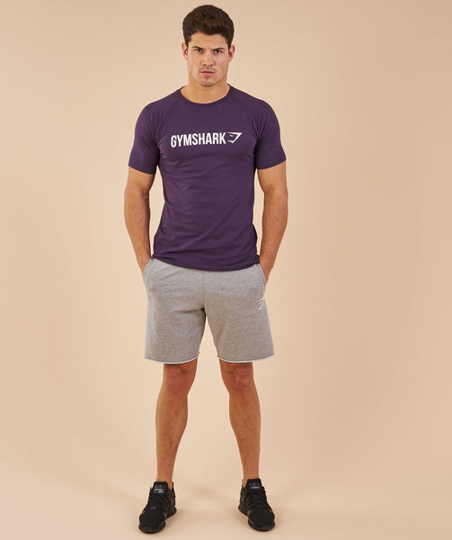 Gymshark Apollo T-Shirt - Nightshade Purple/White 3