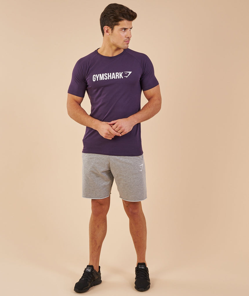Gymshark Apollo T-Shirt - Nightshade Purple/White 5