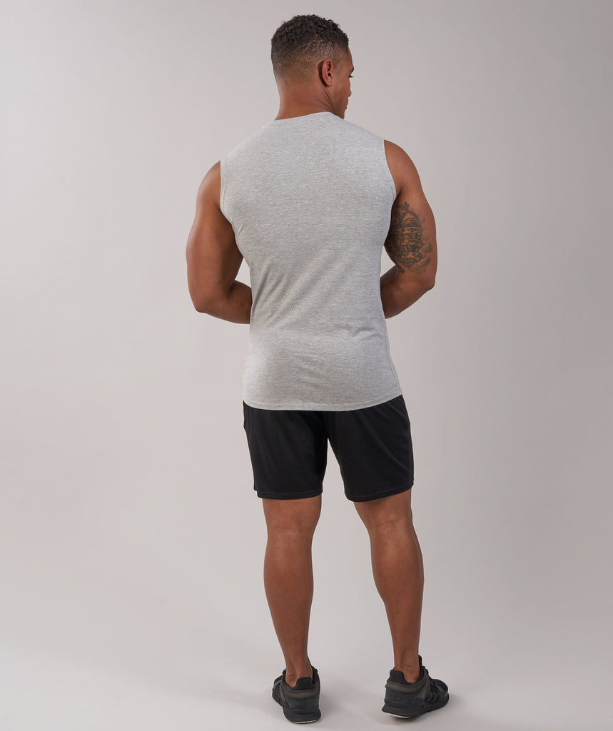 Gymshark Ark Sleeveless T-Shirt - Light Grey Marl 2