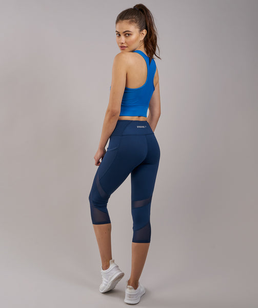 Gymshark Serene Sports Crop Top - Blueberry 1
