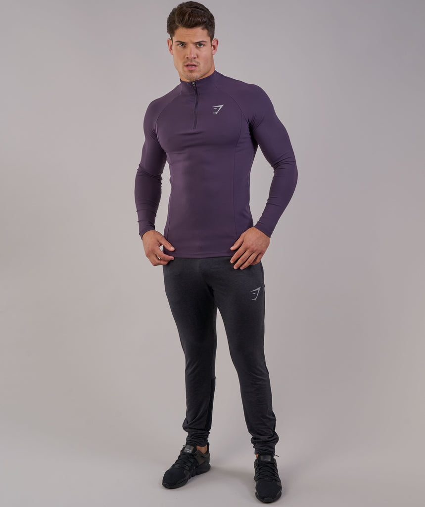 Gymshark Edge 1/4 Zip Pullover - Nightshade Purple 1