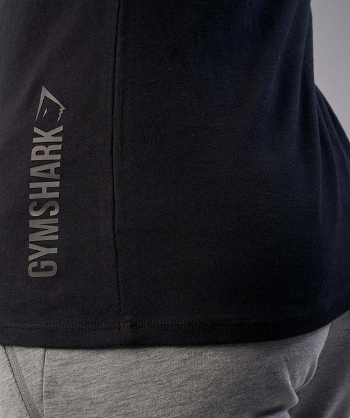Gymshark Brushed Cotton T-Shirt - Black 4