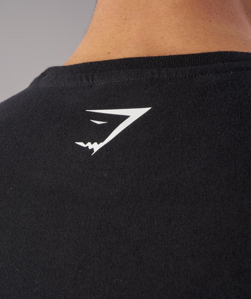 Gymshark Brushed Cotton T-Shirt - Black 6