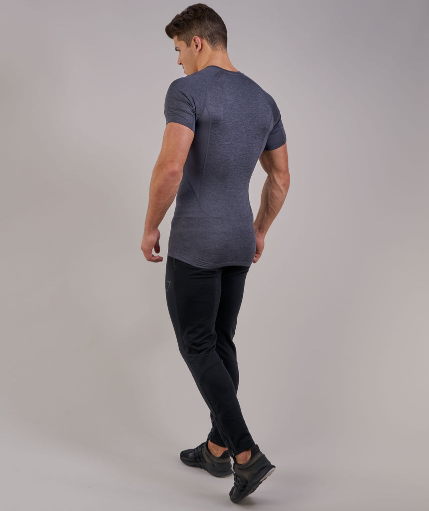 Gymshark Element Baselayer Short Sleeve Top - Charcoal Marl 2