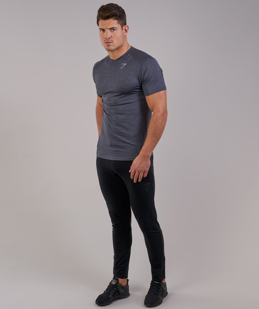 Gymshark Fit Tapered Bottoms - Black 1