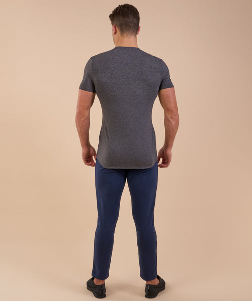 Gymshark Solace Longline T-Shirt - Charcoal Marl 2