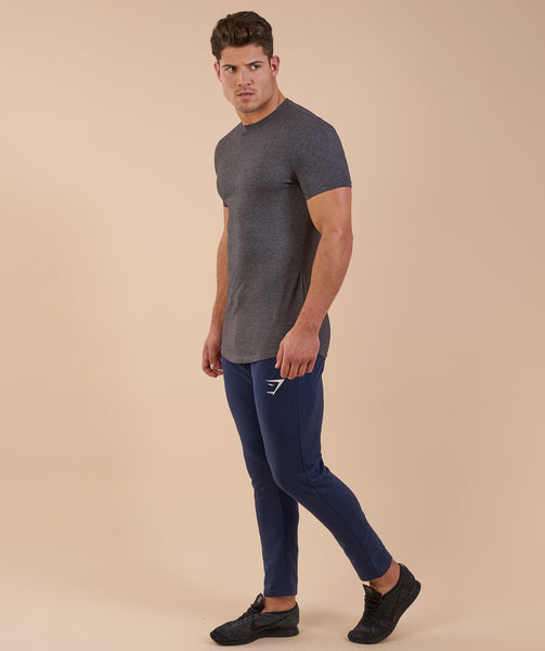 Gymshark Solace Longline T-Shirt - Charcoal Marl 4