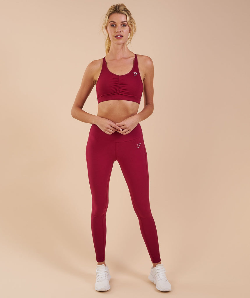 Gymshark Aspire Leggings - Beet 1