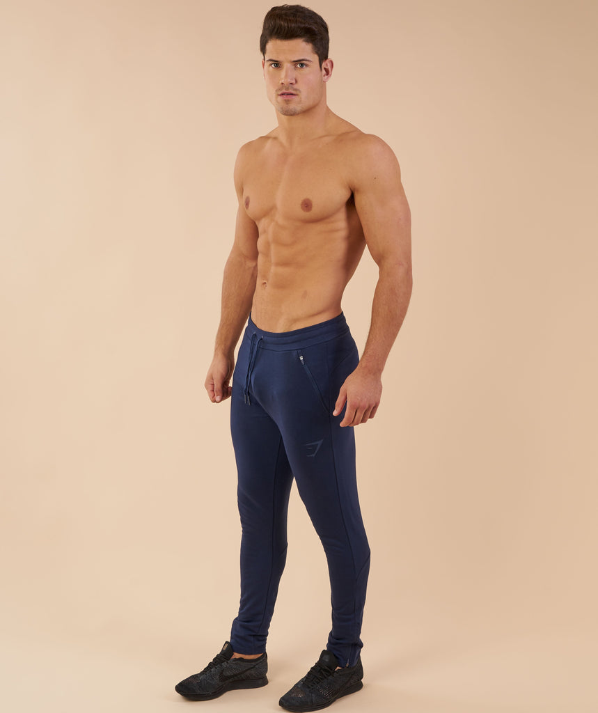 Gymshark Fit Tapered Bottoms - Sapphire Blue 1