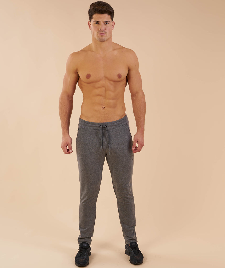 Gymshark Fit Tapered Bottoms - Charcoal Marl 1