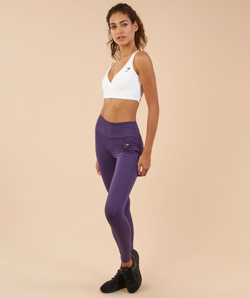 Gymshark Dry Sculpture Leggings - Rich Purple 2