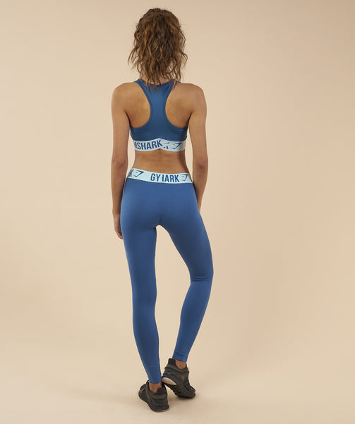 Gymshark Fit Sports Bra - Petrol Blue/Pale Turquoise 1